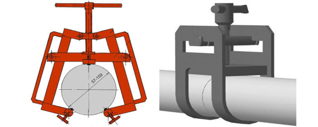 Центровка труб большого диаметра