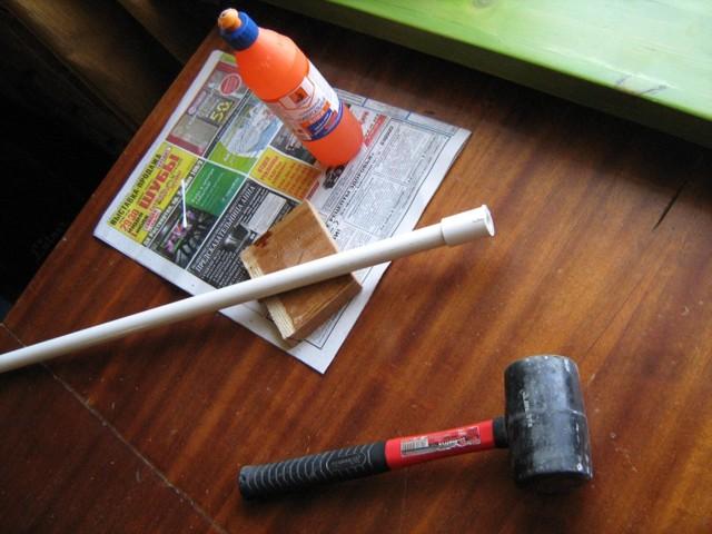 Как из пластиковой трубы сделать дубинку из