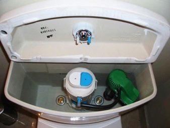 Запорная арматура смывного бачка с нижней подводкой